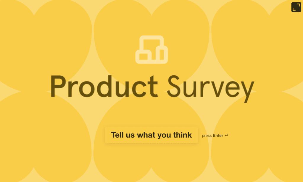 SaaS Product Survey