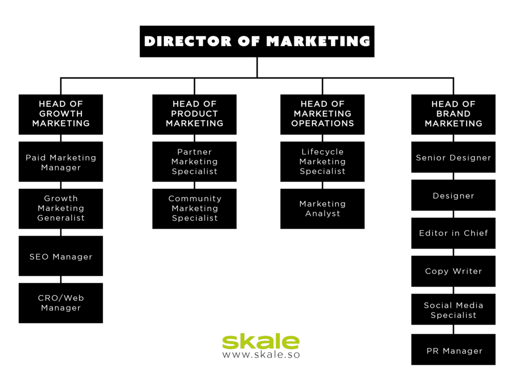 medium SaaS marketing team structure