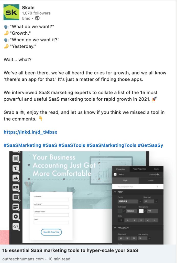 Marketing Tools for SaaS